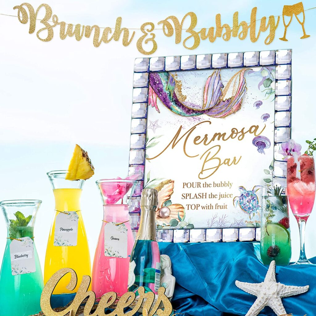 mermaid baby shower mimosas