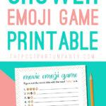 baby shower emoji game pin image