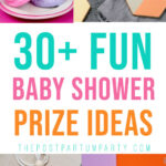 baby shower game prize ideas pin image