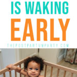 baby waking too early pin image