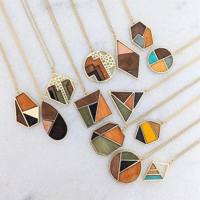 wooden statement necklaces