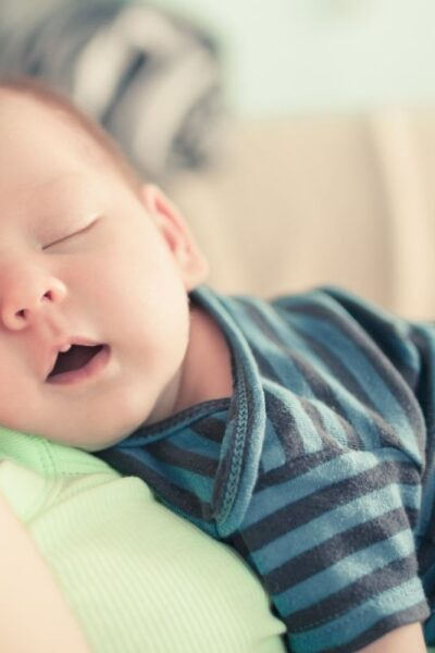 2-month old sleeping baby