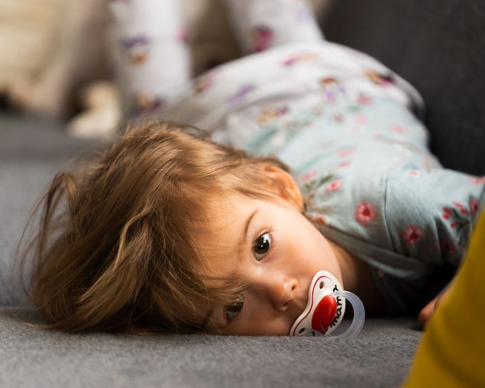 toddler getting ready for sleep