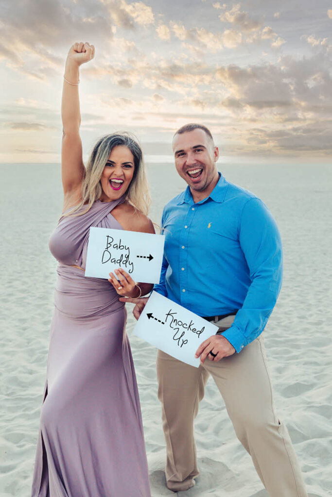 beach pregnancy announcement
