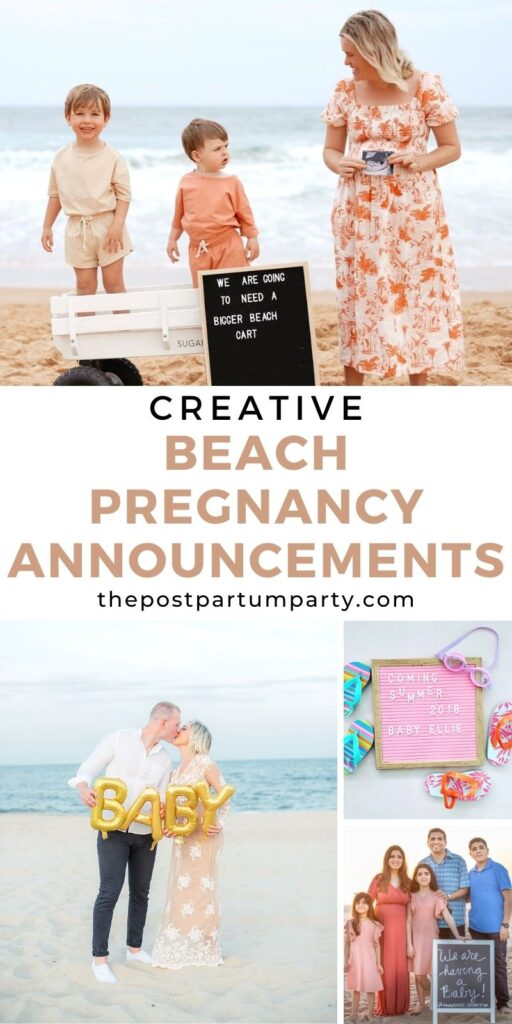 beach pregnancy announcement pin image