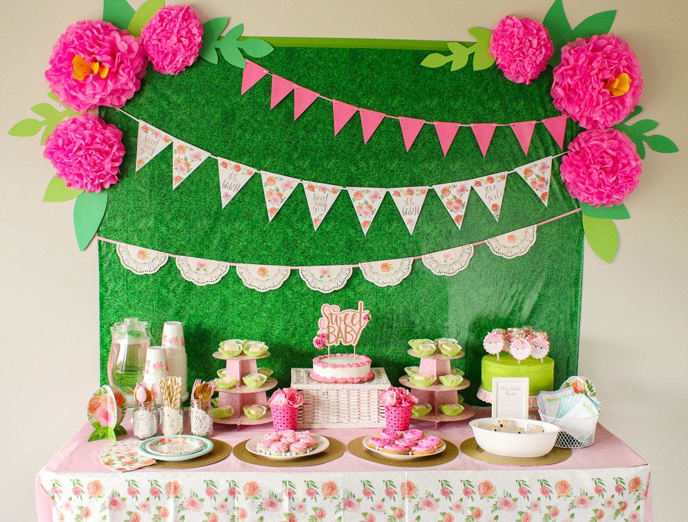 floral summer baby shower theme