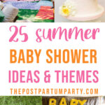summer baby shower ideas pin image