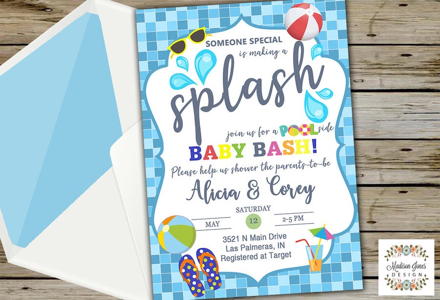 Pool themed summer baby shower