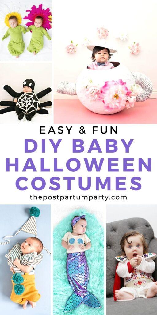 DIY baby Halloween costumes pin image