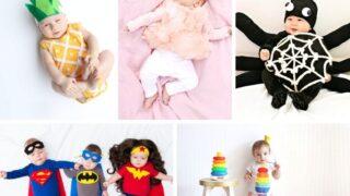 DIY Baby Halloween costumes collage