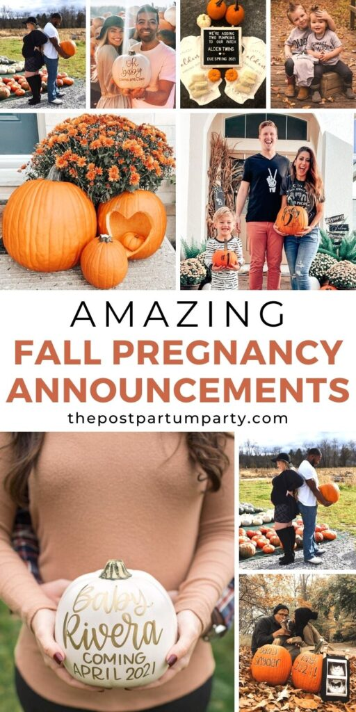 Fall pregnancy announcement pin image