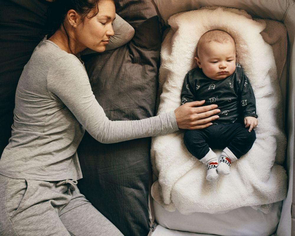 baby co-sleeping on a DockATot