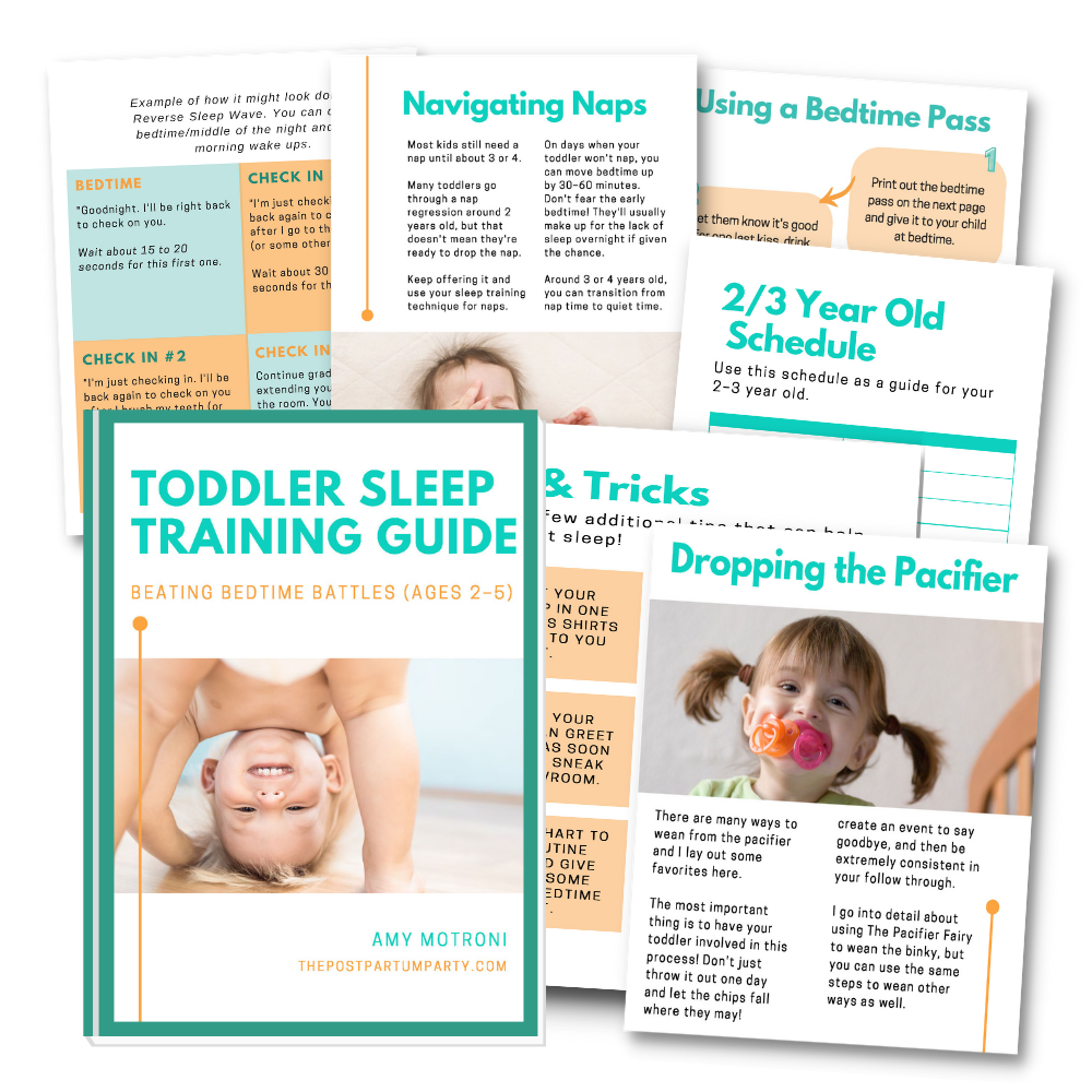 toddler sleep training guide mock up