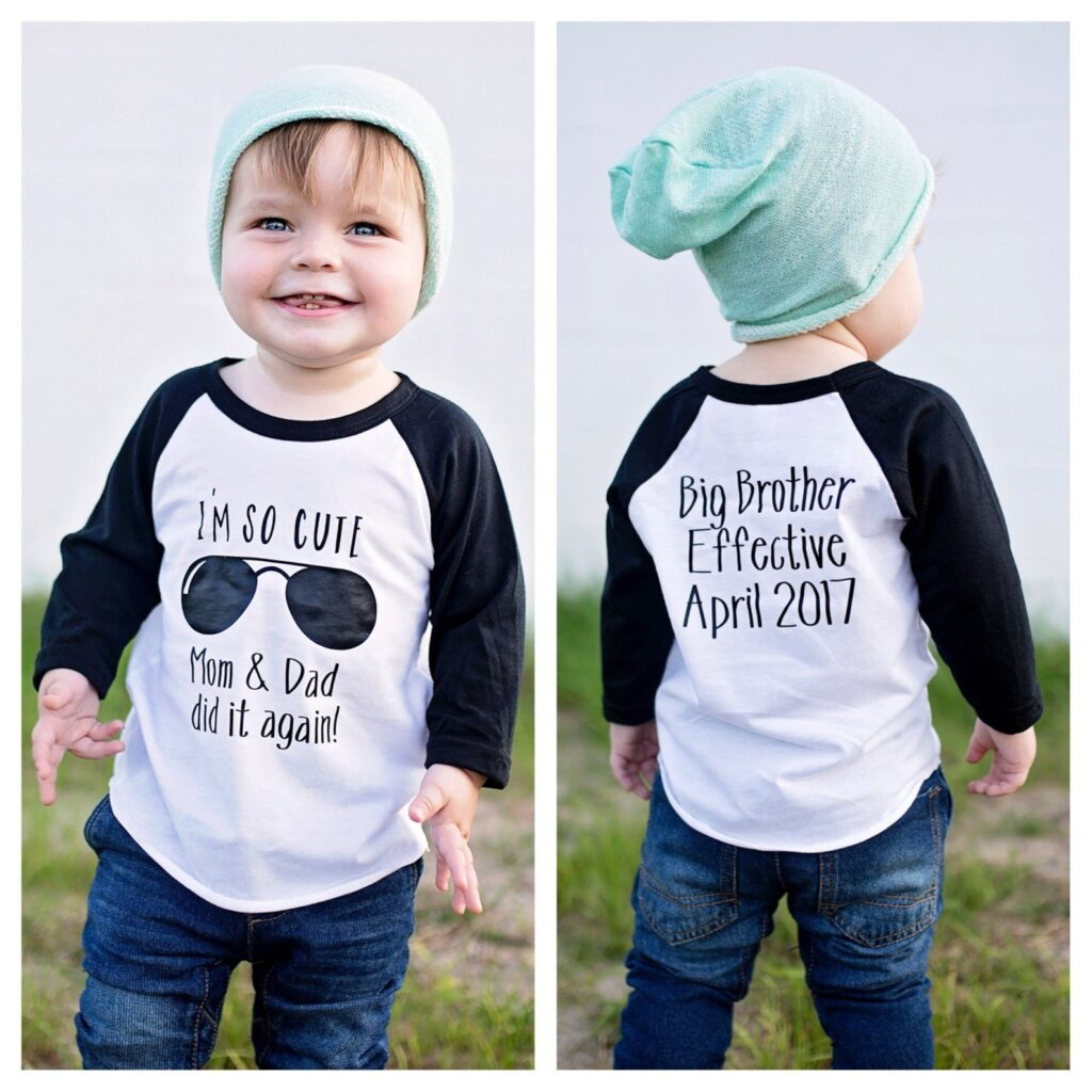 big brother pregnancy announcement with so cute shirt