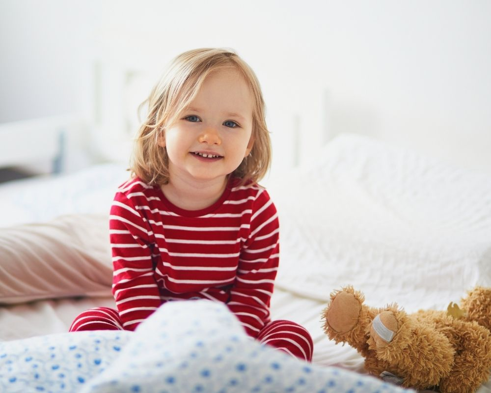 toddler girl  ready for bed