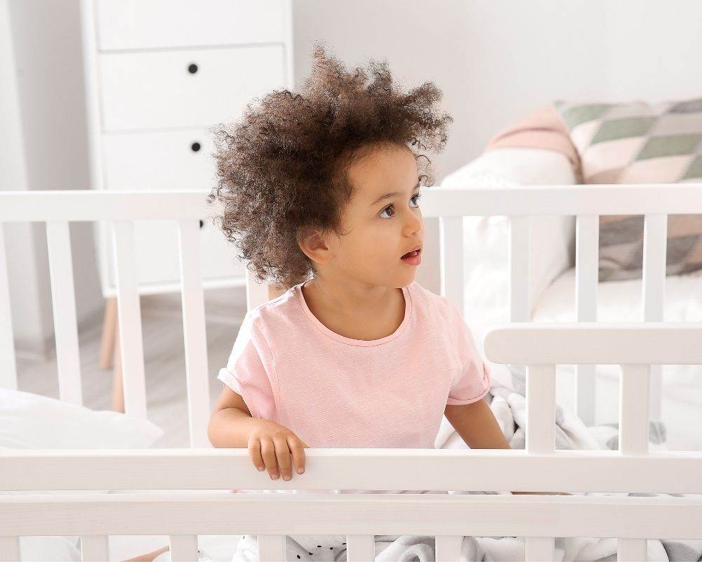 2 year old standing up in crib, nap strike