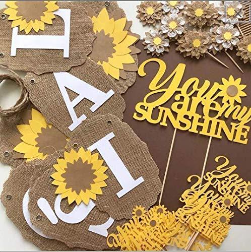 sunflower baby shower decorations
