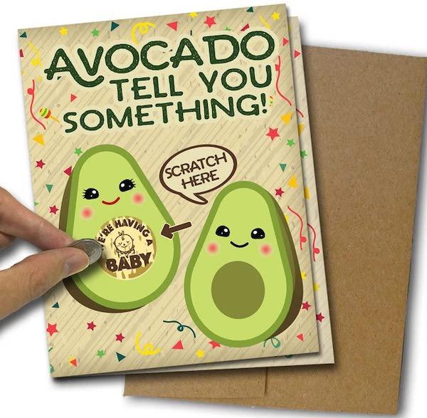 scratch off pregnancy announcement card