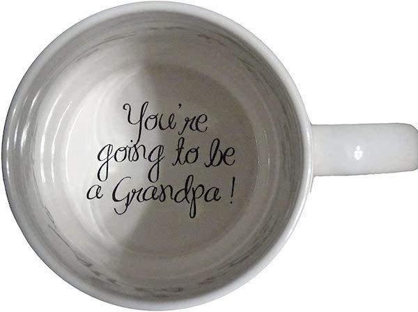 pregnancy announcement to grandpa coffee mug surprise