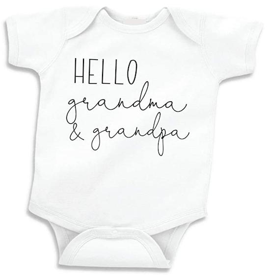 pregnancy announcement to parents baby onesie