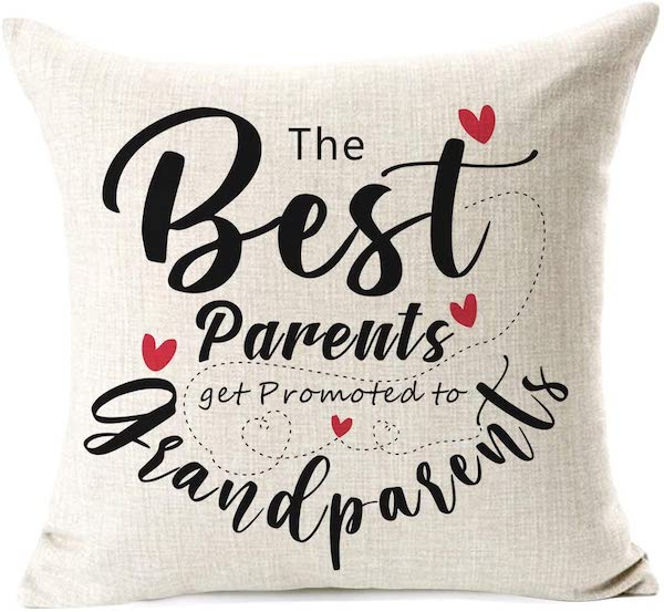 throw pillow for new grandparents