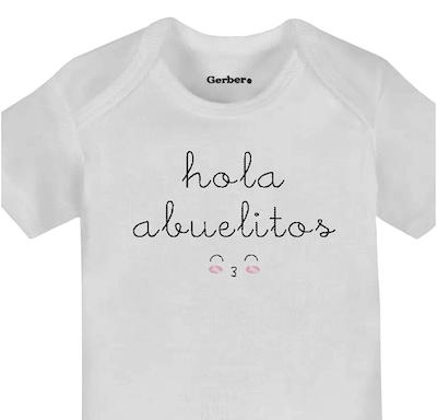 pregnancy announcement to parents spanish onesie